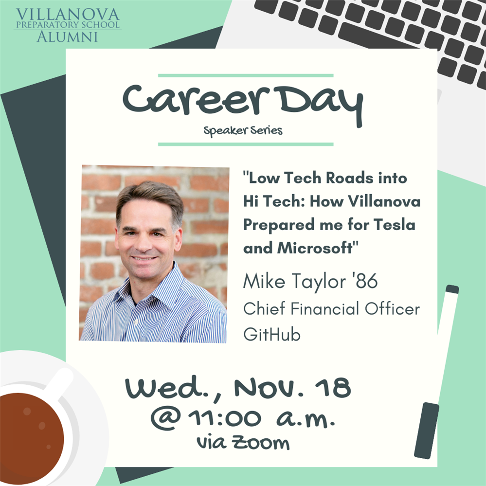 Career Day Series hosts Mike Taylor '86