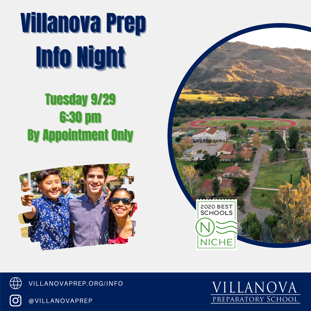 Info Night for prospective families on 9/29